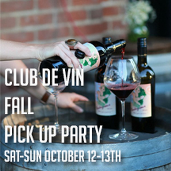 Saturday - Fall Club de Vin Pickup Party 2019